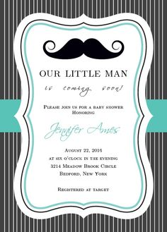 You cant go wrong with the classic mustache! Gather your friends and family to celebrate your little gentleman! Customize the font and colors to make it truly one of a kind!