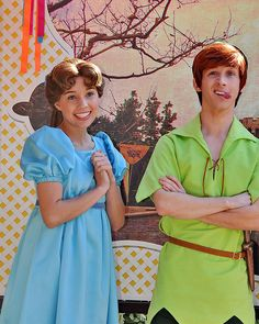 Wendy & Peter Pan (married in real life)