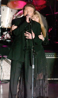 """don henley and stevie nicks. """"Leather and Lace""""......Uploaded By  www.1stand2ndtimearound.etsy.com"""