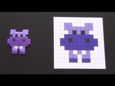Cute Hippo Perler Bead Pattern. Laceys Crafts is all about sharing super simple and adorable crafts for kids. Enjoy!