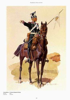 "German;2nd Royal Bavarian Uhlans ""King's"", Unteroffizier. Raised 1863. Home Depot Ansbach. II Royal Bavarian Corps."