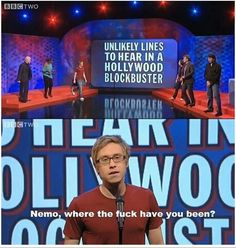 "When Russell Howard had no time for plots. 31 Times ""Mock The Week"" Was Really Fucking Funny British Humor, British Comedy, English Comedy, Mock The Week, Russell Howard, Saturday Humor, Funny Quotes, Funny Memes, 9gag Funny"