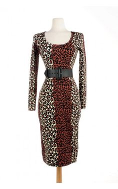 Deadly Dames - Hotrod Honey Dress in 1950s Leopard Print | Pinup Girl Clothing