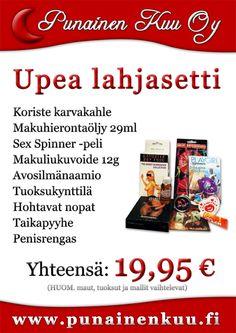 Upea ja runsas lahjasetti vain 19,95 €