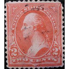 United States Postage, George Washington, 2 C, First Bureau Issue 1894 used VF