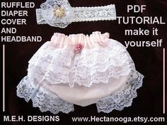 SEWING PATTERN NO 293 Ruffled Diaper cover newborn by Hectanooga, $4.99