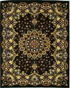 Isfahan Black Persian Silk Rug 5x8 6x8 Pinterest And
