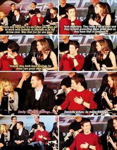 I ship both of these pairings!!!! Because Danielle Panabaker is phenomenal and Olicity is just a fact of life!!!!!!!!!