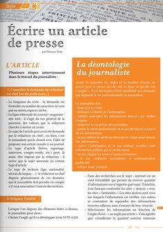 [ Article LCFF ] Comment écrire un article de presse ? http://www.lcf-magazine.com