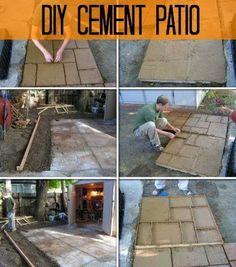 Do it yourself cement patio cabaas para el hogar y pisos patio dyi solutioingenieria Images