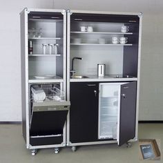 Büroküche  Ikea Varde complete mini kitchen fridge hob sink compact kitchen ...