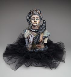 """Tsipora & The Bird Whisperer"" Suzy, Figurative, Goth, Ceramic Sculptures, Inspire, Ceramics, Inspiration, Bird, Style"