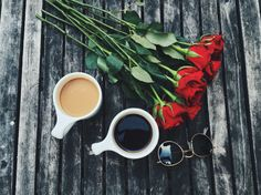 Roses and coffee