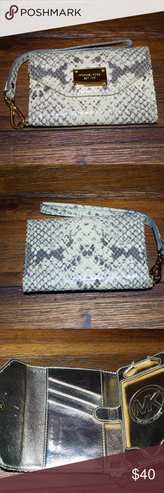 Michael Kors wallet Michael Kors python iphone wallet and credit card holder. KORS Michael Kors Bags Wallets