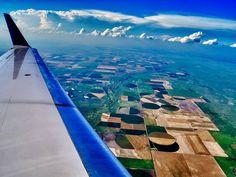 Seeing the World Through an Airplane Window - Somewhere over Kansas, USA
