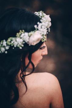 Joel Bedford Photography; San Marcos Wedding California; Bride with flower crown;