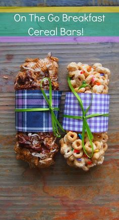 On The Go Breakfast Cereal Bars - Perfect for both mommies and munchkins! #DIY #Healthy #Recipes #Breakfast #Snacks