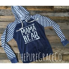 Mama Bear Stripes by ThePUREGRACEco on Etsy