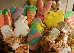 Organic Easter basket, Order Toady!  With 24 sugar cookies and 24 ooey gooey toasted coconut marshmallow bites, choose basket or platter!