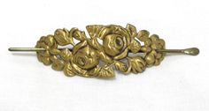 Solid Brass Flower Floral Hair Stick Pin Barrette Slide Ponytail Bun Holder * #Unbranded #HairStick