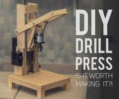 Making the Drill Press. Is It Worth It? [Build + Tests]: 17 Steps (with Pictures) Drill Press Diy, Homemade Drill Press, Drill Press Stand, Homemade Tools, Diy Tools, Hand Tools, Woodworking Tools For Beginners, Woodworking Tips, Plexiglass Sheets