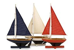 "Forza Sailing Fleet w/ 3 Ships - 16.25""H x 10.75""W x 6.35D - for bottom of  Red Console"