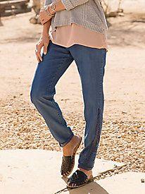 Indigo Pants With Lace