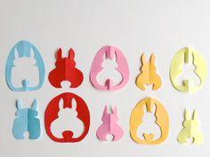 schaeresteipapier: Hasen-Scherenschnitt für Karte und Osterbaum