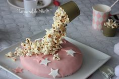 Gravity Cake Pop Corn Zebra Pink Cake Cirucs Girly Party Birthday