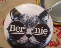 Bernie Sanders cat 1.5 inch Pinback Button