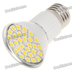 Material:: Aluminum alloy + PVC; Emitter Type:: 5050 SMD; Total Emitters:: 30; Power:: 5.5W; Color BIN:: Warm white; Rated Voltage:: AC 85~265V; Luminous Flux:: 360LM; Color Temperature:: 3000~3500K; Connector Type:: E27; http://j.mp/VFZPff