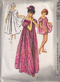 McCalls 4610 Vintage 1960s Sewing Pattern Muu by PeoplePackages, $14.95