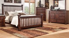 Clairfield Tobacco 5 Pc Queen Slat Bedroom