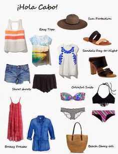 Cabo (beach) vacation packing list