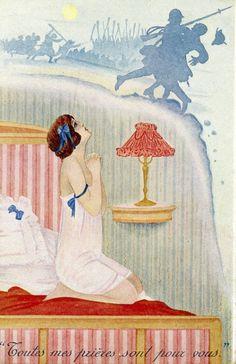"""hoodoothatvoodoo: """" Art by Xavier Sager """" World War I"""