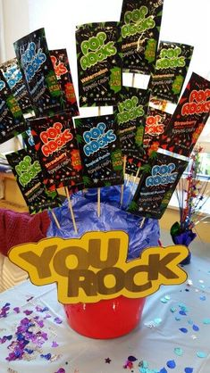 My version of You Rock with Pop Rocks!Perfect for Employee appreciation week! #teacherappreciationgifts