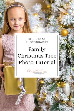 Taking photos of the Christmas tree is a favourite shot for Christmas.  With the kids, the pets, the presents, these shots are always the first you share with family members and show to friends.  But how do you take great shots of the Christmas tree?  Learn my professional tips for Christmas tree photos with the family and make memories that last forever!  Click to read more! #christmas #christmasphotos #christmastree