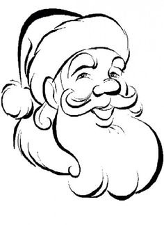 image transfer santa claus kids coloring pages and free colouring pictures to print - Coloring Pictures Of Santa