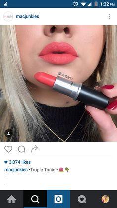 #MAC #lip #swatch #peach
