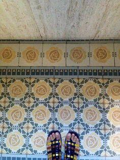 Art nouveau tiles Trieste/Italy