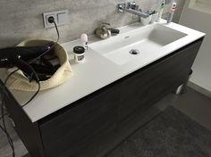 Solid Surface Waschbecken nach Maß gefertigt. Bei www.one-bath.de können Sie es direkt online konfigurieren und bestellen.