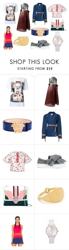 """Best Set of the month"" by donna-wang1 ❤ liked on Polyvore featuring WALL, Delpozo, Versace, Loewe, Giambattista Valli, Joshua's, Paula Cademartori, Elizabeth and James, adidas and Michael Kors"