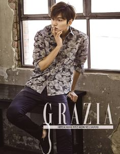 The 6 cutest photos of Lee Min Ho wearing Guess Jeans in Grazia