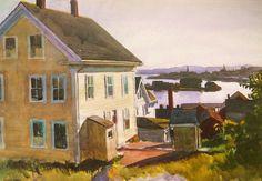 Edward Hopper, House and Harbor, 1924