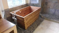 Ofuro soaking tub handcrafted from western red cedar by Austin Joinery Custom Furniture www.AustinJoinery.com
