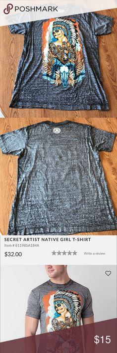 Secret Artist T-Shirt Purchased at the Buckle. Never worn. Heathered grey burnout T-Shirt Secret Artist Shirts Tees - Short Sleeve