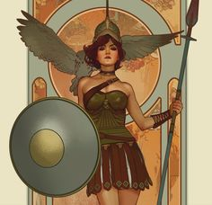 Athena, Brian Matyas on ArtStation at https://www.artstation.com/artwork/AEDVX
