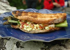 Grilled Vegetable Sandwich with Egg Salad and Bacon http://www.chow.com/recipes/10937-grilled-vegetable-sandwich-with-egg-salad-and-bacon