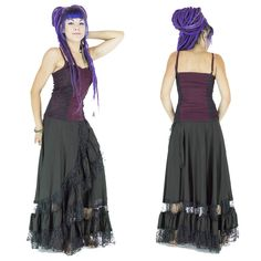 Vêtements femmes violet et noir. gipsy, Bohémien, tzigane, jupes, jupe longues, corset, dentelle, festival, trance festival, burning man, burlesque, froufrou, romantique, danse, cabaret, artiste,tribal gipsy, Women's Clothes, Gypsy, Bohemian skirts, long skirt, corset, lace, festival, trance festival, burning man, burlesque, frilly, romantic, dance, cabaret artist, tribal gipsy, dreadlocks, goa. Par BaliwoodShop!!! more to see on store ! https://www.etsy.com/fr/shop/BaliWoodShop