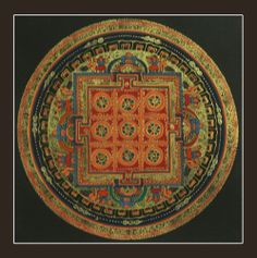 Mandala Tibetan Buddhist Art Meditational Instrument Cosmic Circle